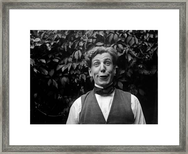 Funny Face Framed Print