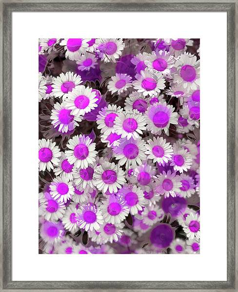 Fuscia Girls Framed Print