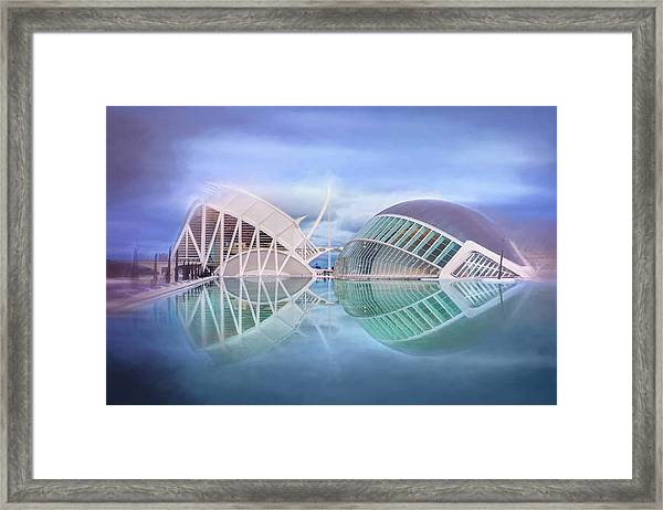 Futuristic Architecture Of Modern Valencia Spain  Framed Print