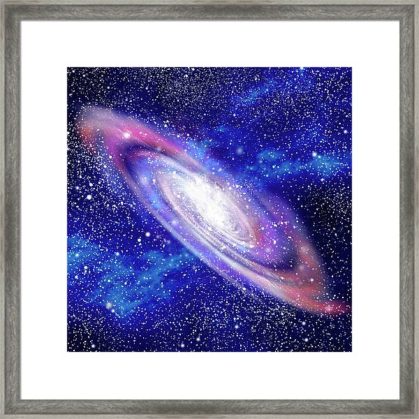 Galaxy And Starfields Digital Framed Print