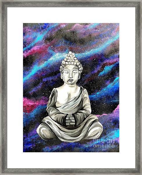 Galaxy Buddha  Framed Print