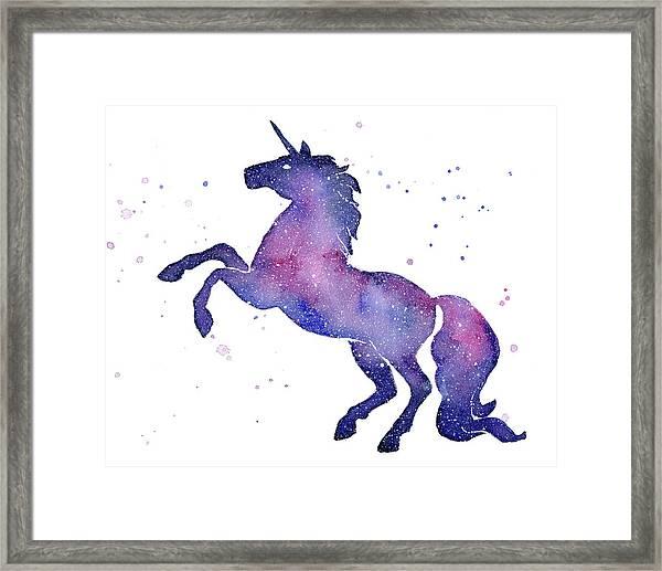 Galaxy Unicorn Framed Print
