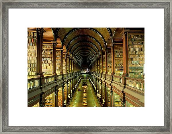 Gallery Of The Old Library, Trinity Framed Print