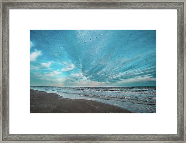 Galveston Island First Light Framed Print