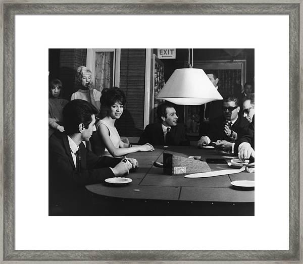 Gamblers At Angelos Framed Print