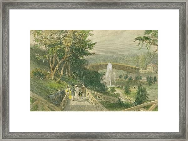 Garden At Fairmount Framed Print