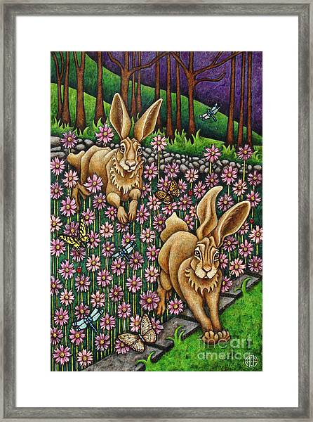 Garden Frolic  Framed Print