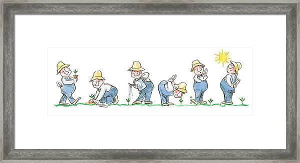 Garden Guy Planting Framed Print