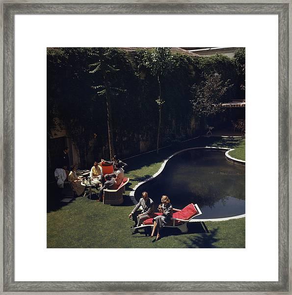 Garden In Madrid Framed Print by Slim Aarons