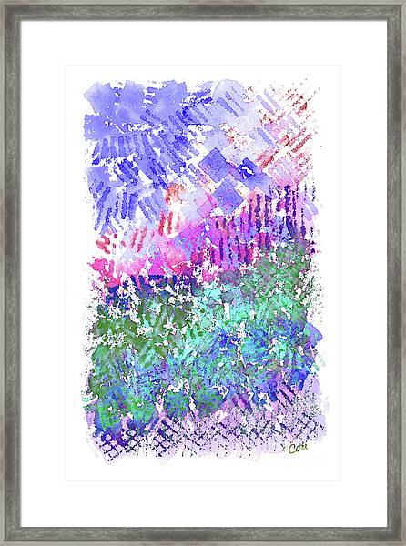 Garden Of Purple And Green Framed Print