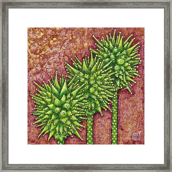 Framed Print featuring the painting Garden Room 33 by Amy E Fraser