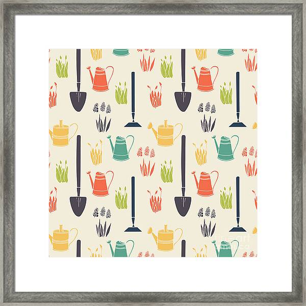 Garden Seamless Pattern Framed Print by Tashanatasha