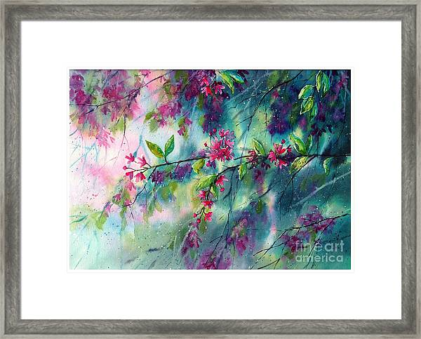 Garlands Full Of Flowers Framed Print