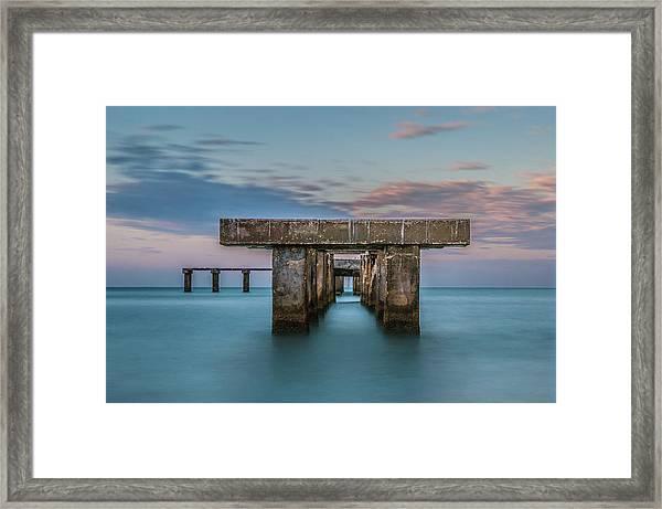 Gasparilla Island Pier Framed Print