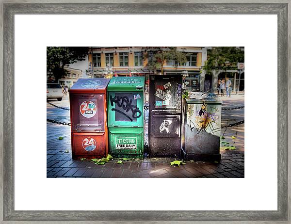 Gastown Street Newsstand Framed Print
