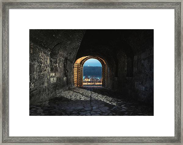 Framed Print featuring the photograph Gate At Kalemegdan Fortress, Belgrade by Milan Ljubisavljevic