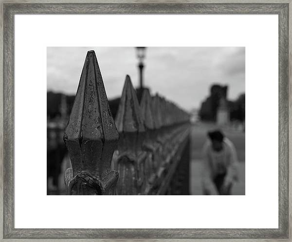 Gate, Person Framed Print