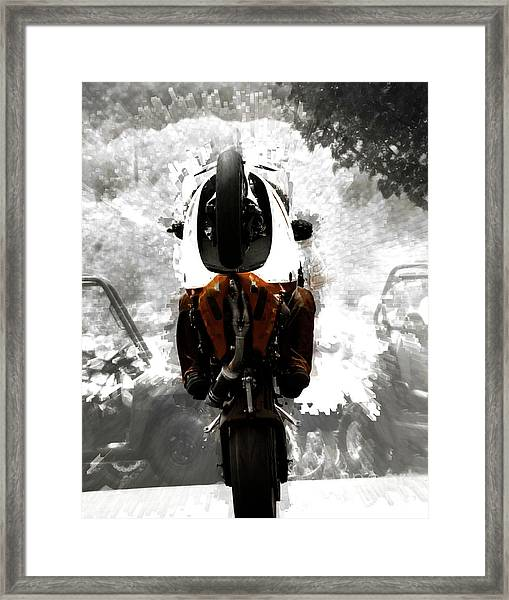 Gathering Up The Beast  Framed Print by Steven Digman
