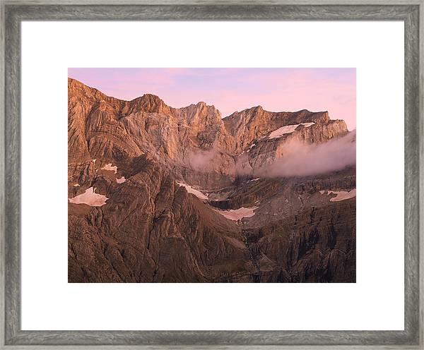 Gavarnie Alpen Glow Framed Print