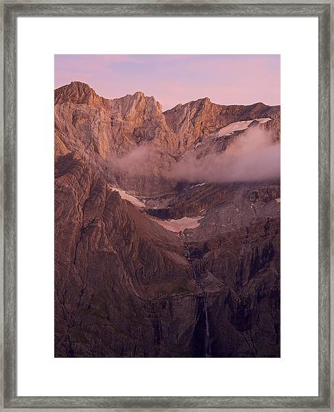 Gavarnie Falls Sunset Framed Print
