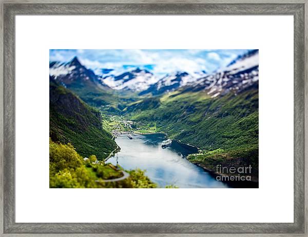 Geiranger Fjord, Beautiful Nature Framed Print