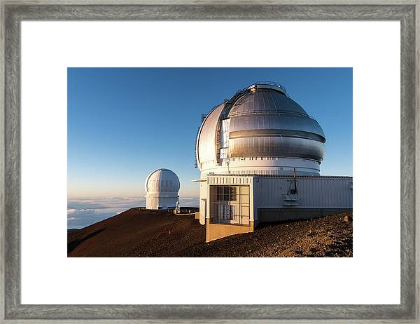 Framed Print featuring the photograph Gemini Observatory by William Dickman