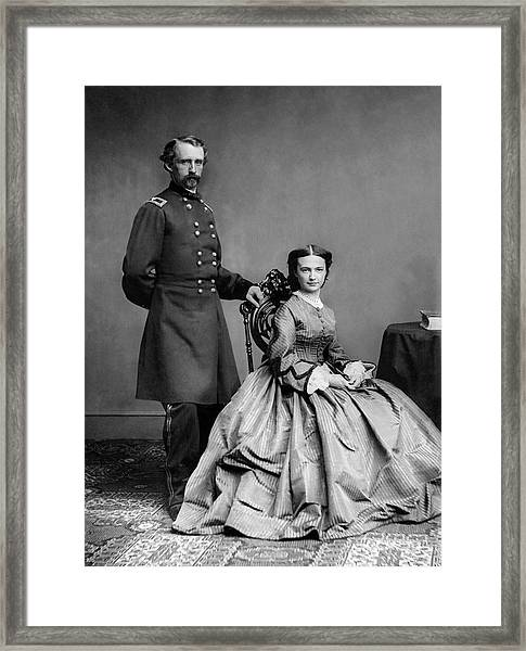 General Custer And His Wife Libbie Framed Print