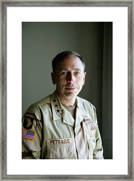 General Petraeus Charged With Framed Print by Brent Stirton