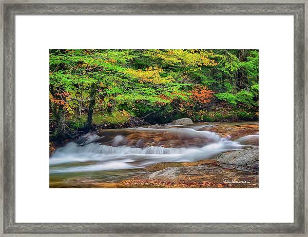 Gentle Pemigewasset Cascade 2485 Framed Print