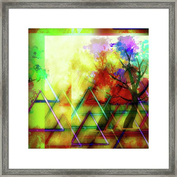 Geometric Abstract Framed Print