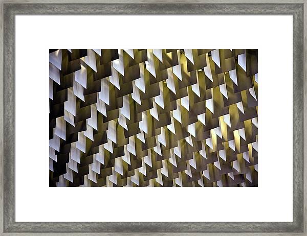 Geometric Ceiling Framed Print by Gerard Hermand