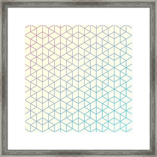 Geometric Pattern Of Intersecting Framed Print