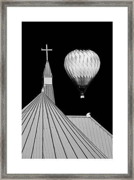 Geometric Patterns At Balloon Fest Framed Print