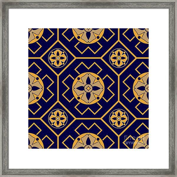 Geometric Seamless Pattern Framed Print
