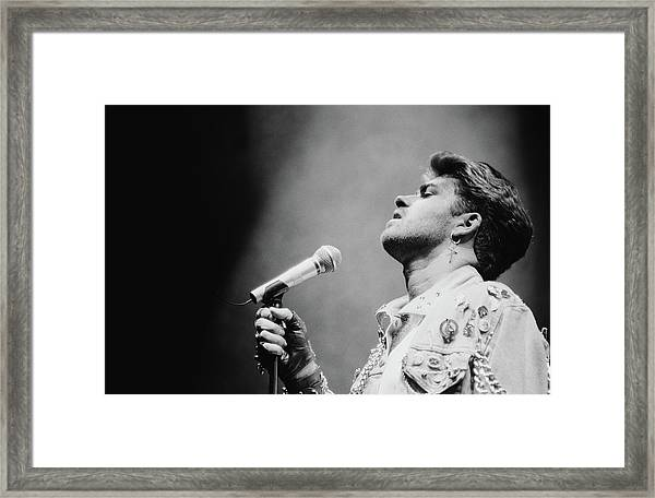 George Michaels First Solo Tour Framed Print
