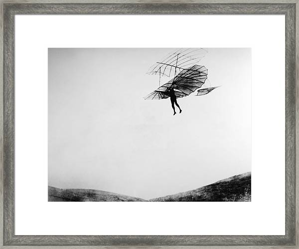 German Pioneer Otto Lilienthal And His Framed Print
