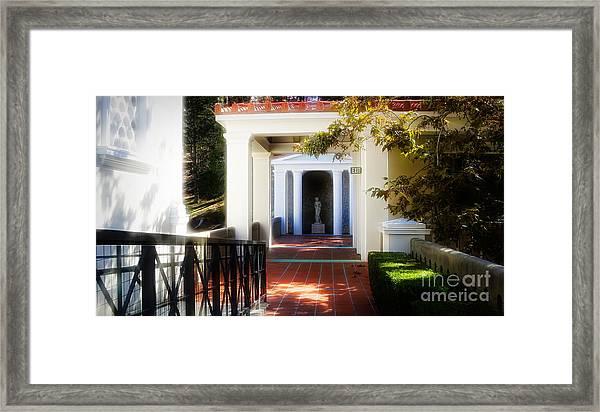 Getty Exterior Landscape Architecture  Framed Print