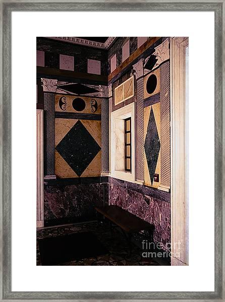 Getty Villa Interior  Framed Print
