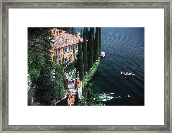 Giacomo Montegazza Framed Print by Slim Aarons