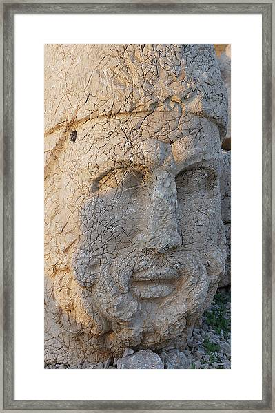 Giant Head Of Heracles,  Tumulus Framed Print