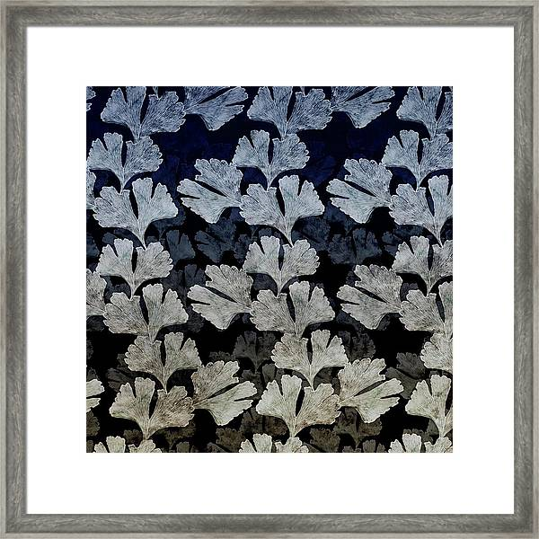 Ginko Leaf Pattern Framed Print