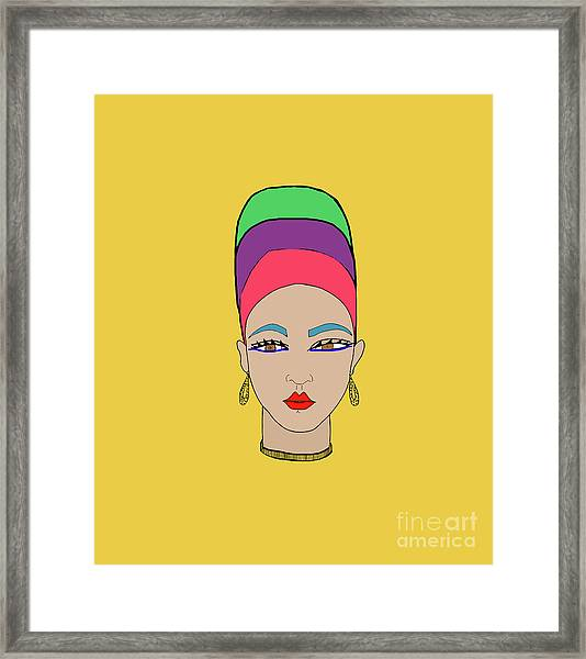 Girl With Headscarf Framed Print