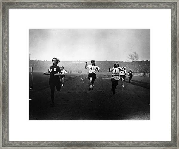 Girls Race Framed Print
