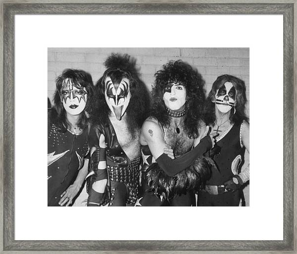 Give Us A Kiss Framed Print by Peter Cade