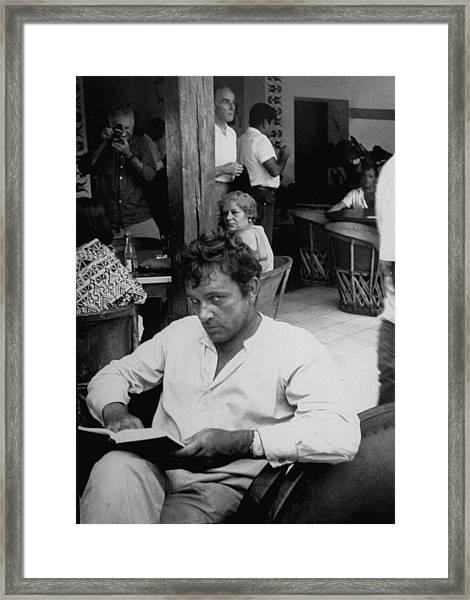 Gjon Milirichard Burton Framed Print