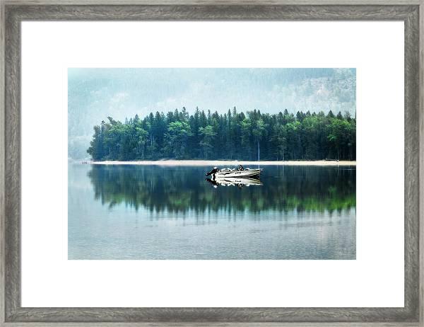 Glacier National Park Lake Reflections Framed Print