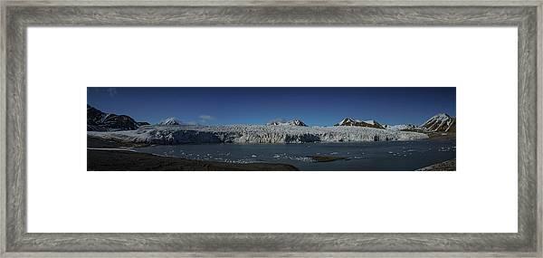 Glacier Svalbard Framed Print