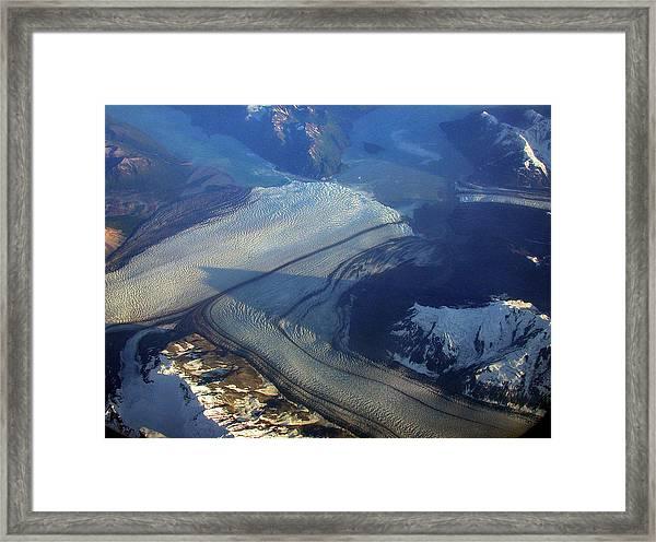 Glaciers Converge Framed Print
