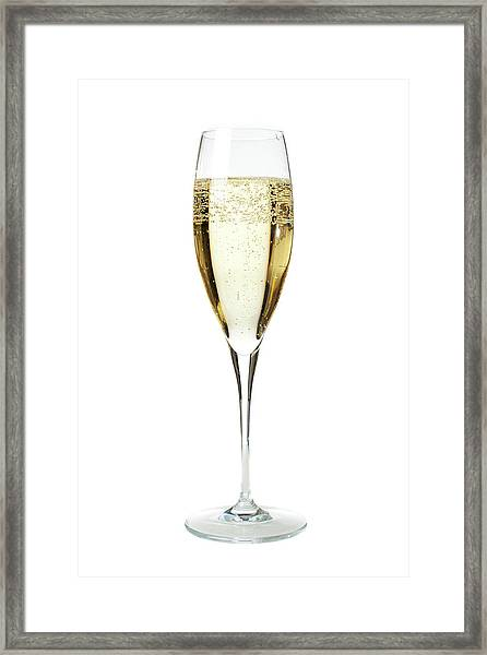 Glass Of Champagne Framed Print by Gianluca Fabrizio
