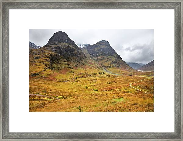 Glencoe And The Three Sisters - Framed Print